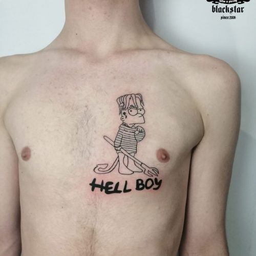 tattoo-borek-hell-boy-bart-simson-tatuaz